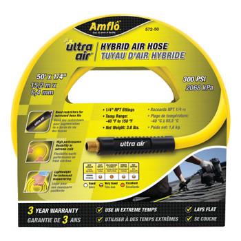 Plews Ultra Air Hybrid Leads and Hoses, 1/2 in O.D., 50 ft (5 EA/EA)