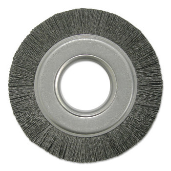 Weiler Composite Metal Hub Wheel Brushes, Ceramic, 6 in, 4000 rpm (1 EA/CTN)