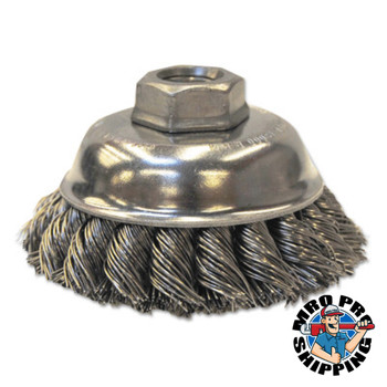 Anchor Products Knot-Style Cup Brushes, 3 1/2 in Dia., 0.023 in Stainless Steel Wire (1 EA/EA)
