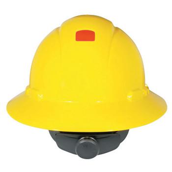 3M Full Brim Hard Hats with Uvicator, 4 Point, Rachet, Hi Viz Yellow (20 CA/EA)