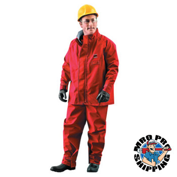 Ansell Alphatec Polyester Trilaminate Jackets, Large, Red (1 EA/EA)