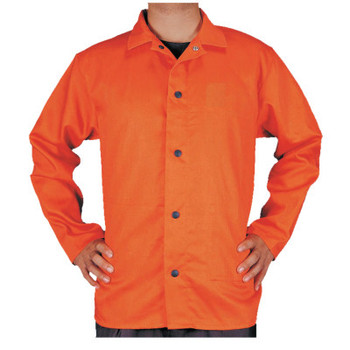 Best Welds Premium Flame Retardant Jacket, Large, Orange (1 EA/EA)