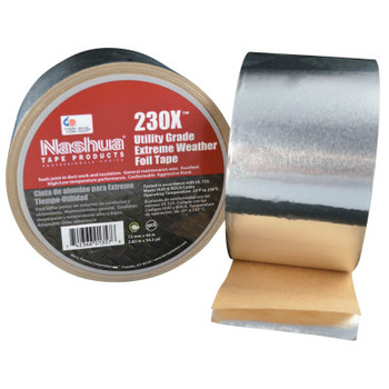 Berry Global Extreme Weather Foil Tapes, 72 mm X 46 m, 3 mil, Silver Aluminum (1 RL/EA)