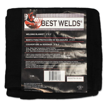 Best Welds Welding Blankets, 3 ft x 3 ft, Carbon Fiber, Black, 16 oz (1 EA/EA)