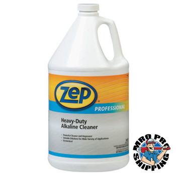 Zep Inc. Heavy-Duty Alkaline Cleaner, Clear Blue-Green, 1 Gal Bottle (4 CA/EA)