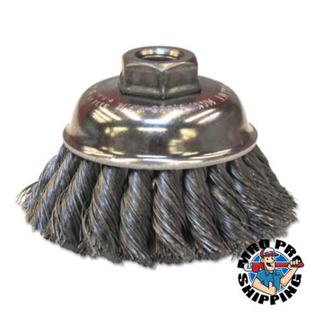 Anchor Products Crimped Wire Cup Brushes, 3 1/2 in Dia., 0.014 in Stainless Steel Wire (1 EA/EA)