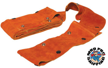Best Welds Cable Covers with Snaps, Small, Leather, 10 ft (6 EA/EA)