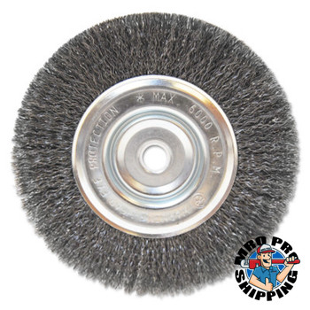 "Anchor Products Light Duty Crimped Wheel Brushes, 6 D x 1/2 W, 0.014 Carbon Steel, 5/8"" - 1/2"" (1 EA/PK)"