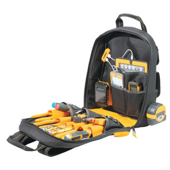 CLC Custom Leather Craft DeWalt USB Charging Tool Backpack, 23 Compartments, 19 4/5 in x  19 4/5 in (1 EA/EA)