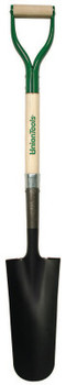 The AMES Companies, Inc. Drain Spade with Comfort Step and D-Grip on Fiberglass Handle (1 EA/EA)