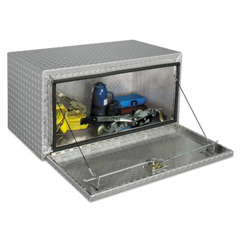 Apex Tool Group Underbed Truck Boxes, 36 in W x 18 in D x 18 in H, Aluminum, Silver (1 EA/EA)