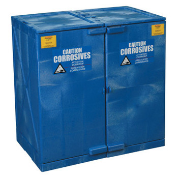 Eagle Mfg Modular Quik-Assembly Poly Cabinet, HDPE, 24 Gallon, Blue (1 EA/EA)