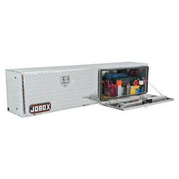 Apex Tool Group Topside Truck Boxes, 44 in W x 15 in D x 17 in H, Aluminum, Silver (1 EA/EA)