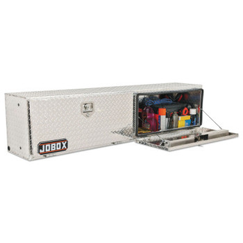 Apex Tool Group Topside Truck Boxes, 96 in W x 15 in D x 17 in H, Aluminum, Silver (1 EA/EA)