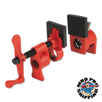 BESSEY Pipe Clamps, Lever Handle, 3/4 in - 1 3/4 in Throat Depth, 2 in Jaw Width (1 EA/EA)