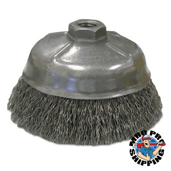 Anchor Products Crimped Wire Cup Brushes, 5 in Dia., 0.02 in Carbon Steel Wire (1 EA/PK)