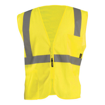 OccuNomix High Visibility Value Mesh Standard Zipper Safety Vests, Small (1 EA/EA)