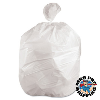 Boardwalk Waste Can Liners, 8-10gal, 24 x 23, .4mil, White, 25 Bags/Roll (1 CT/EA)