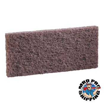 Boardwalk Heavy-Duty Brown Pads, 4 x 10 (20 CT/EA)