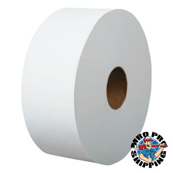 "Boardwalk Jumbo Roll Bathroom Tissue, 1-Ply, White, 3.4"" x 1200 ft (12 CT/EA)"