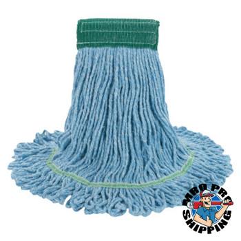 Boardwalk Super Loop Wet Mop Head, Cotton/Synthetic, Medium Size, Blue (12 CT/EA)