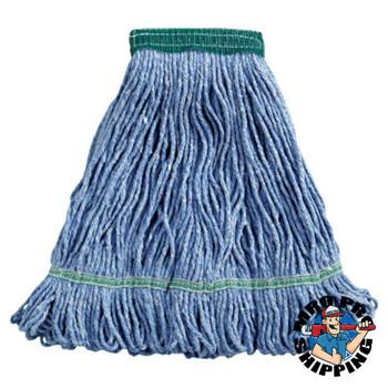 Boardwalk Super Loop Wet Mop Head, Cotton/Synthetic, Medium Size, Blue (12 EA/EA)