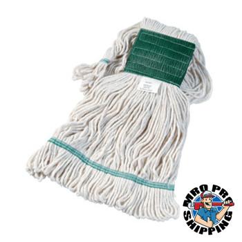 Boardwalk Super Loop Wet Mop Head, Cotton/Synthetic, Medium Size, White (12 EA/PK)