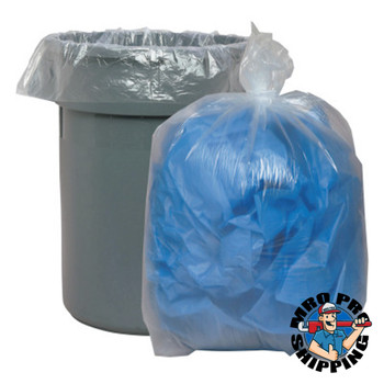 Boardwalk Super Extra-Heavy Can Liner, 38x58, 1.4 Mil, 60gal, Clear, 10 Bag/RL (1 CT/EA)