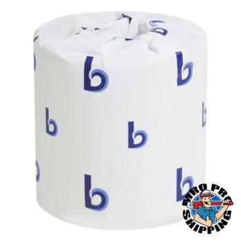 Boardwalk Two-Ply Toilet Tissue, White, 4 x 3 Sheet, 400 Sheets/Roll (1 CT/PK)