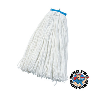 Boardwalk Cut-End Lie-Flat Wet Mop Head, Rayon, 24oz, White (12 CT/EA)