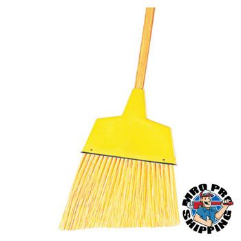 "Boardwalk Angler Broom, Plastic Bristles, 53"" Wood Handle, Yellow (1 EA/EA)"