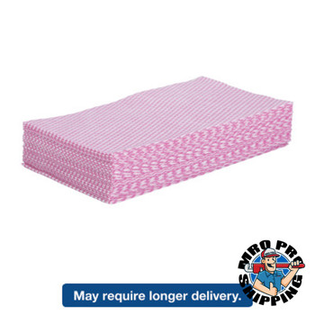 Boardwalk Foodservice Wipers, Pink/White, 12 x 21 (1 PK/EA)