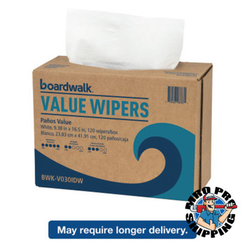 Boardwalk DRC Wipers, White, 9 1/3 x 16 1/2, 9 Dispensers of 100 (1 CT/EA)