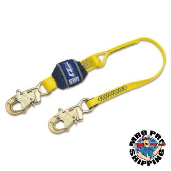 Capital Safety EZ Stop Shock Absorbing Lanyards, Snap Hook, 310 lb Capacity, 2 Legs (1 EA/PK)