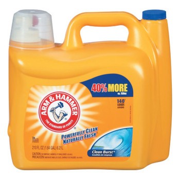 Church & Dwight Co. Dual HE Clean-Burst Liquid Laundry Detergent, 210oz Bottle (2 CT/PK)