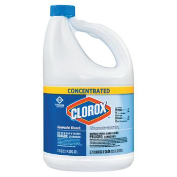 Clorox Concentrated Germicidal Bleach, Regular, 121oz Bottle (3 CT/EA)