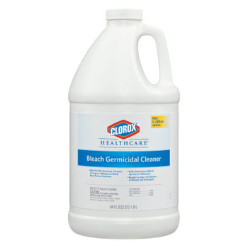Clorox Hospital Cleaner Disinfectant w/Bleach, 2qt Refill (6 CT/PK)