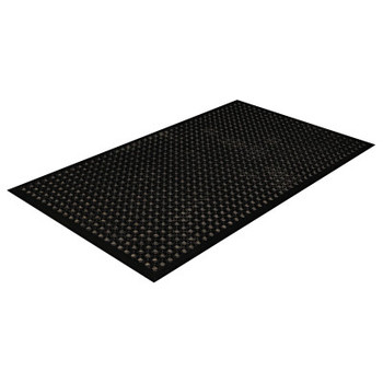 Crown Mats and Matting Safewalk-Light Drainage Safety Mat, Rubber, 36 x 60, Black (1 EA/EA)
