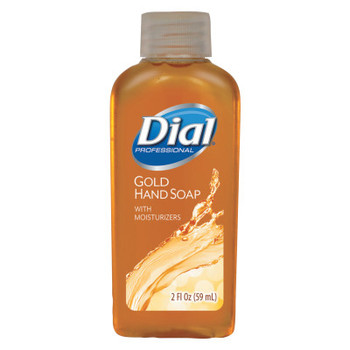 DIAL PROFESSIONAL Gold Antimicrobial Liquid Hand Soap, Floral Fragrance, 2oz Bottle (48 CT/EA)