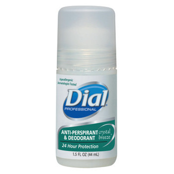 DIAL PROFESSIONAL Anti-Perspirant Deodorant, Crystal Breeze, 1.5oz, Roll-On (48 CT/EA)