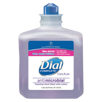 DIAL PROFESSIONAL Antimicrobial Foaming Hand Wash, Cool Plum Scent, 1000mL Bottle (4 CT/EA)