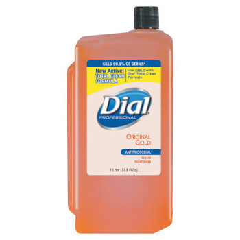 DIAL PROFESSIONAL Gold Antimicrobial Liquid Hand Soap, Floral, 1000mL Refill (8 CT/EA)