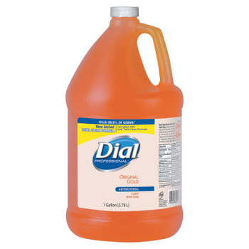 DIAL PROFESSIONAL Gold Antimicrobial Liquid Hand Soap, Floral Fragrance, 1gal Bottle (4 CT/EA)