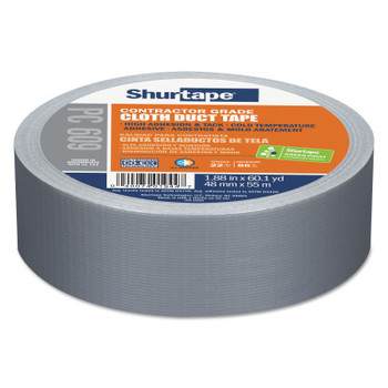 Shurtape PC 609 Performance Grade Duct Tapes, 48 mm x 55 M x 10 mil, Silver (24 CA/EA)