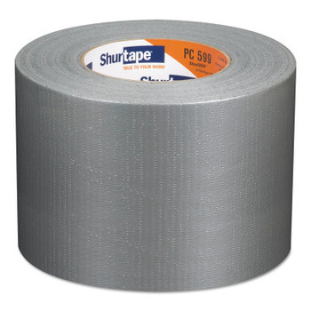 Shurtape PC 599 ShurGrip  Heavy-Duty Duct Tapes, 96 mm x 55 M x 9 mil, Silver (12 CA/EA)
