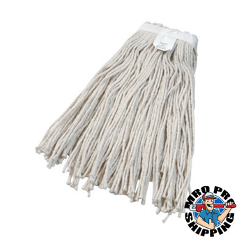 Boardwalk Cut-End Wet Mop Head, Cotton, No. 24, White (12 CT/EA)