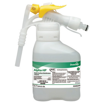 Diversey Alpha-HP Multi-Surface Disinfectant Cleaner, Citrus Scent, 1.5L Spray Bottle UOM (2 CT/EA)