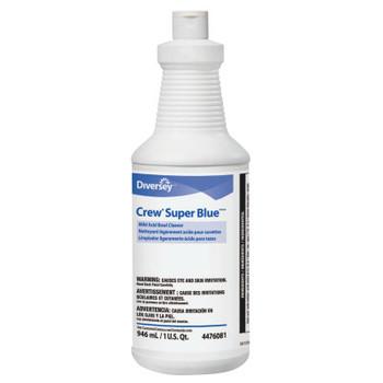 Diversey Crew Super Blue Mild Acid Bowl Cleaner, Citrus, 32oz Squeeze Bottle (12 CT/EA)