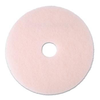 "3M Ultra High-Speed Eraser Floor Burnishing Pad 3600, 20"" Diameter, Pink (5 CT/EA)"