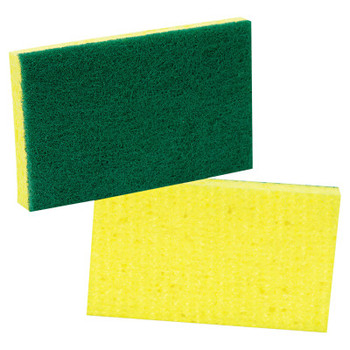 3M Medium-Duty Scrubbing Sponge, 3 1/2 x 6 1/4, Yellow/Green (20 CT/EA)